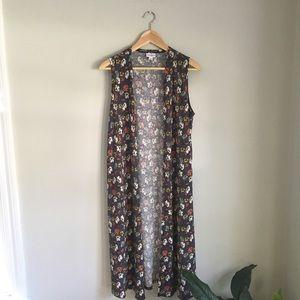 LuLaRoe Floral Joy Vest Size Medium